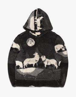 WOLVES HIGH PILE FLEECE PONCHO