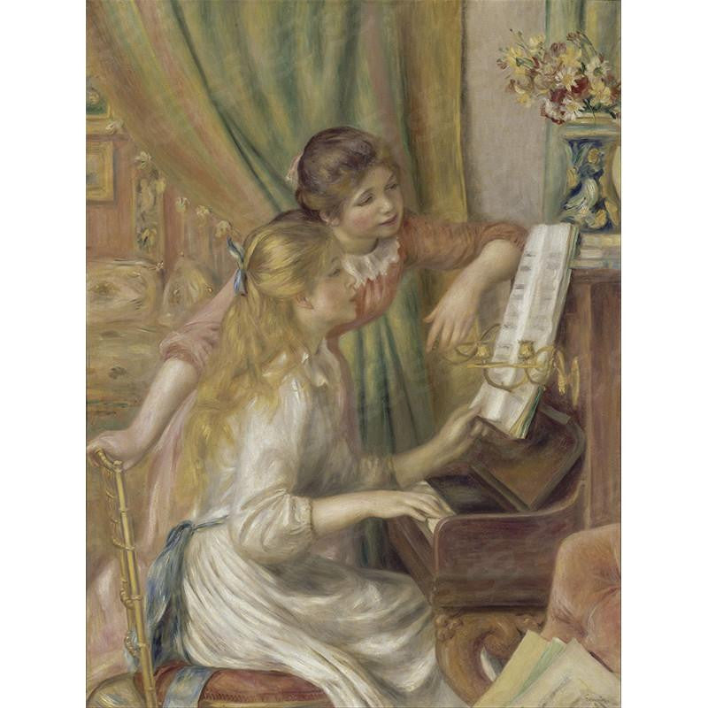 Girls at the Piano Pierre-Auguste Renoir Painting Soul For Style