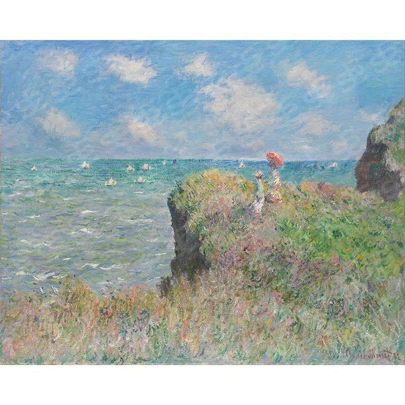The Cliff Walk at Pourville Claude Monet Painting Soul For Style