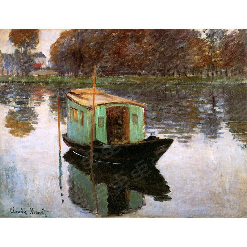 The Studio Boat Claude Monet Painting Soul For Style