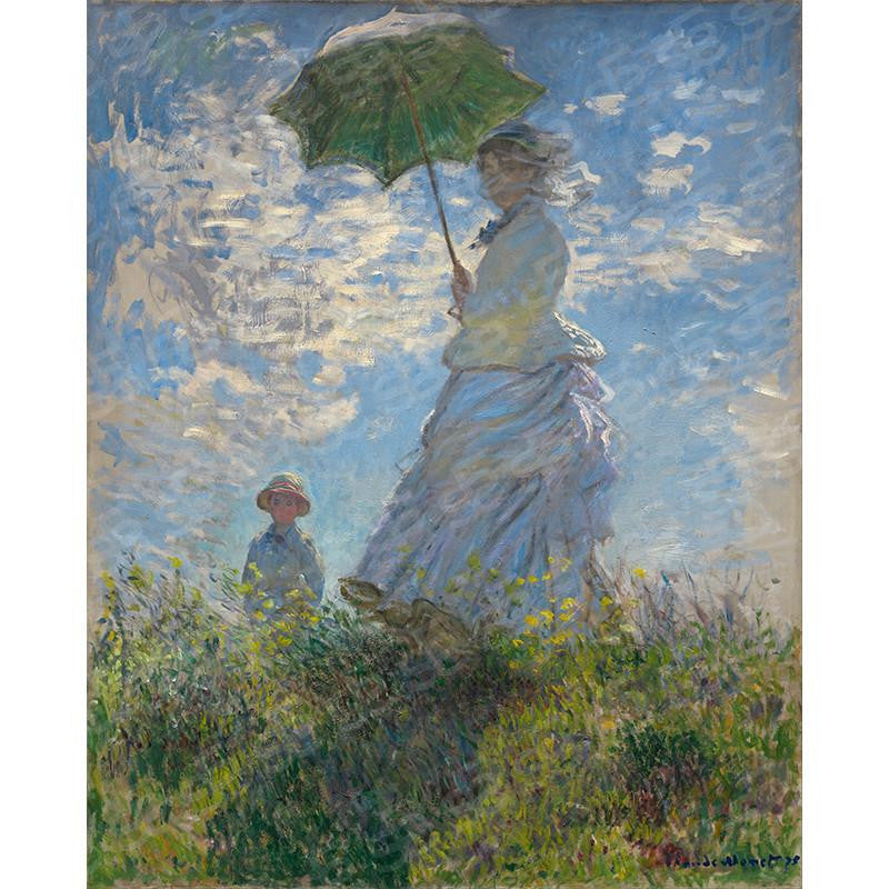 Woman with a Parasol Madame Monet and Her Son Claude Monet Painting Soul For Style