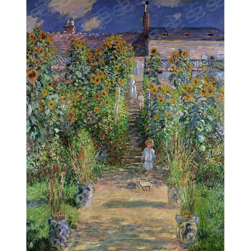 Monet's Garden at Vetheuil Claude Monet Painting Soul For Style