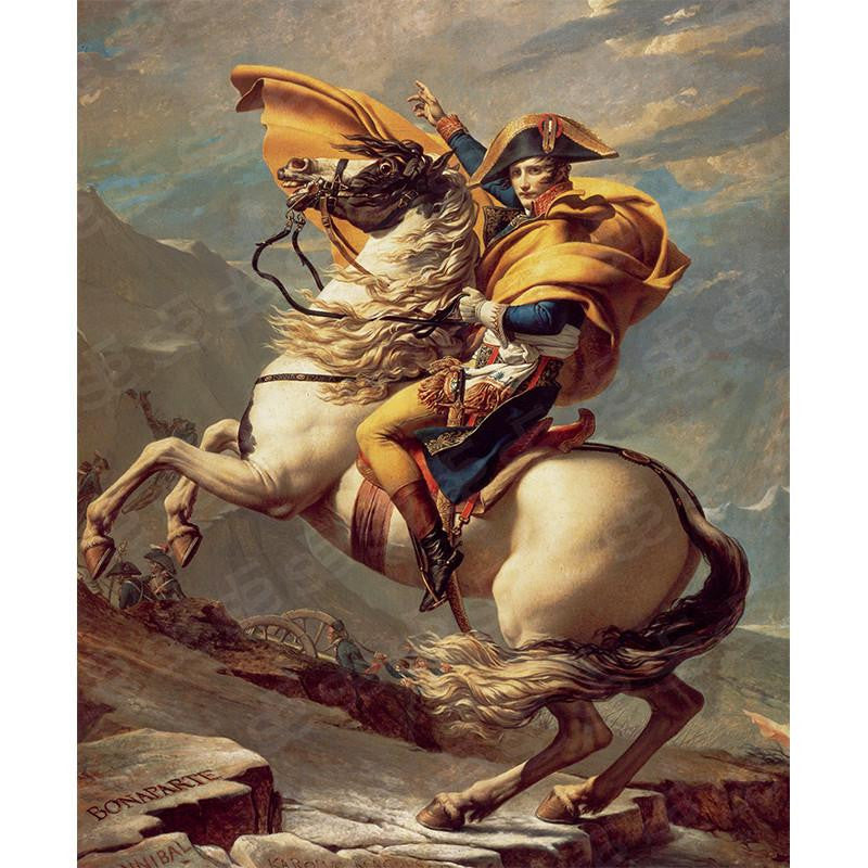 Napoleon Crossing the Alps Jacques-Louis David Painting Soul For Style
