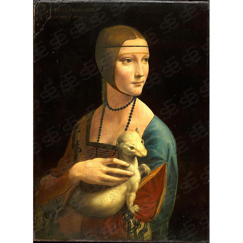 Lady with an Ermine Leonardo da Vinci Painting Soul For Style