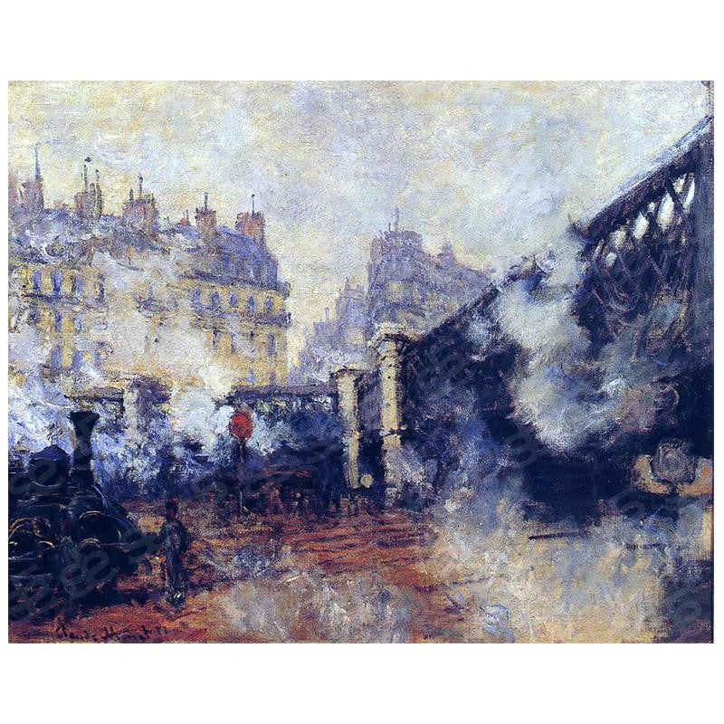 The Europe Bridge, Saint-Lazare Station Claude Monet Painting Soul For Style