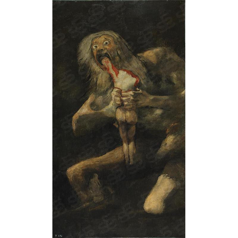 Saturn Devouring His Son Francisco Goya Painting Soul For Style