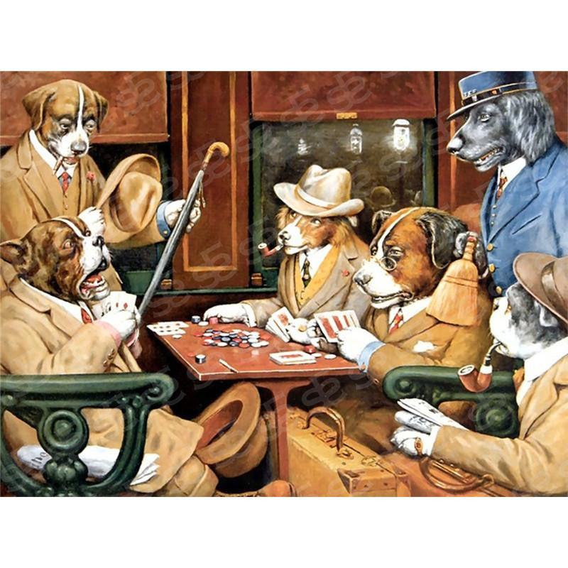Dogs Playing Poker-His Station and Four Aces Cassius Marcellus Coolidge Painting Soul For Style