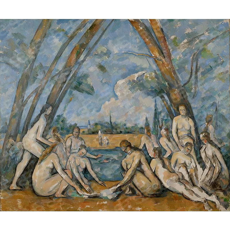 The Large Bathers Paul Cézanne Painting Soul For Style