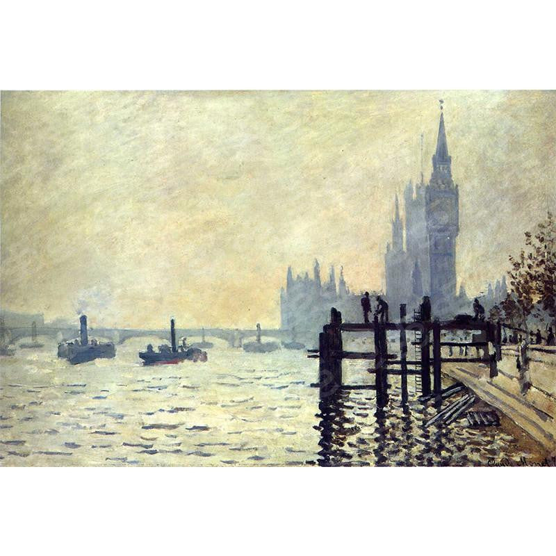 The Thames Below Westminster Claude Monet Painting Soul For Style