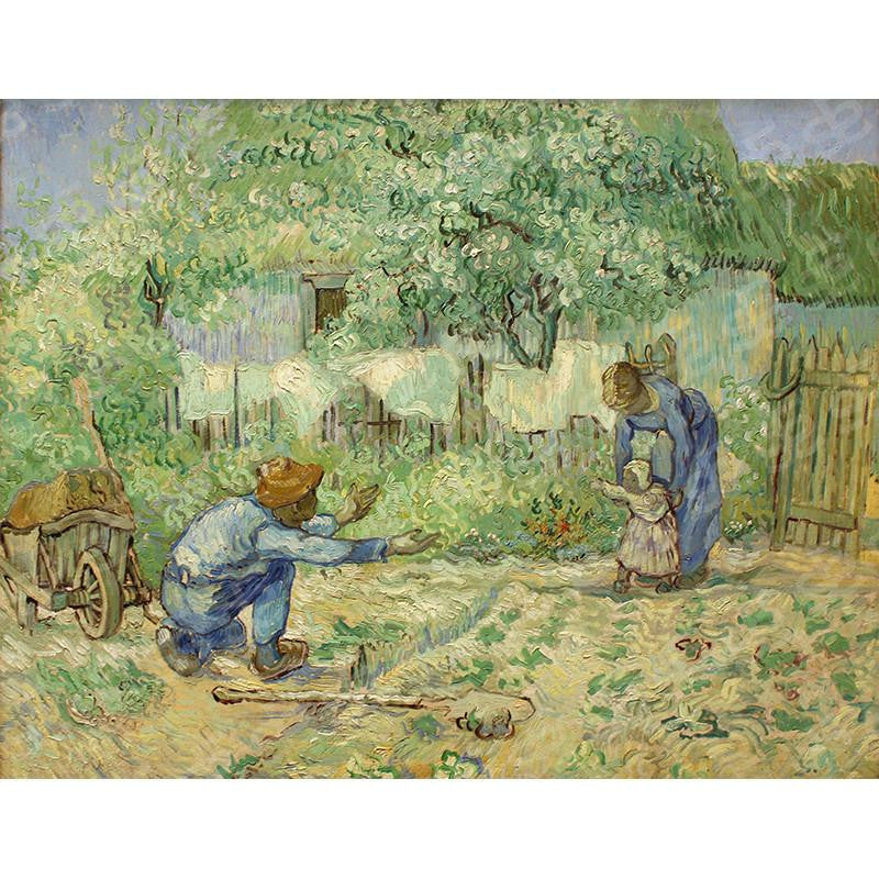 First Steps after Millet Vincent Van Gogh Painting Soul For Style