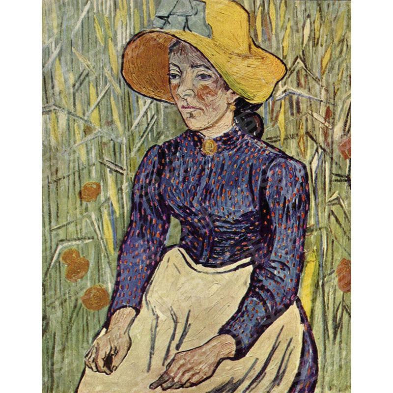 Peasant Woman Against a Background of Wheat Vincent Van Gogh Painting Soul For Style