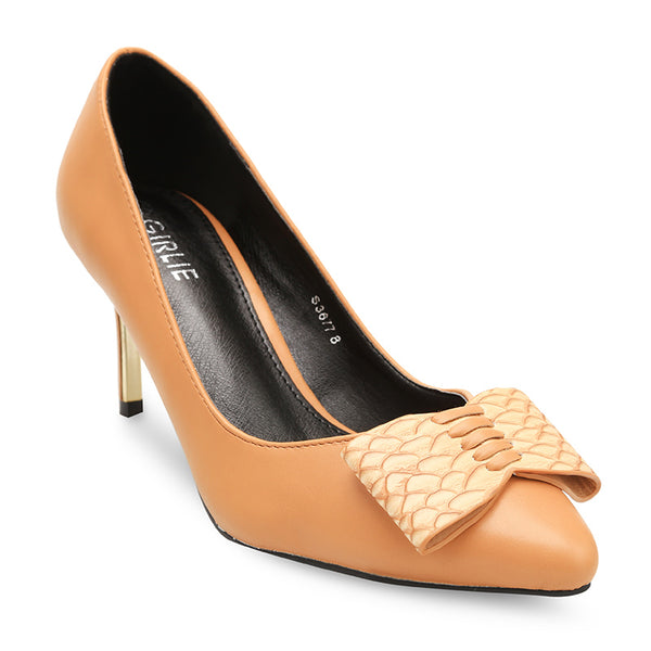 Top Front Textured Flat Bow Mid Heel Court Shoes - www.girlie.uk.com