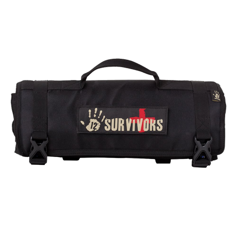 12 Survivors First Aid Rollup Kit Black