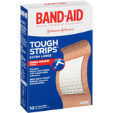 Band-Aid Brand Adhesive Bandages Extra Large Tough Strips 10 Count
