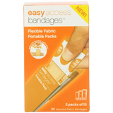 Easy Care Easy Access Bandage Fabric Assorted Large Medium and Junior 30 Count