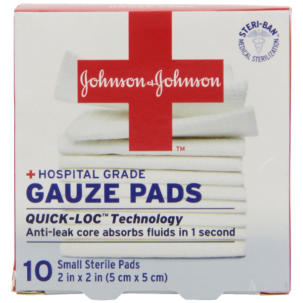 Johnson & Johnson First Aid Gauze Pads (2 x 2-inch) 10-Count Gauze Pads