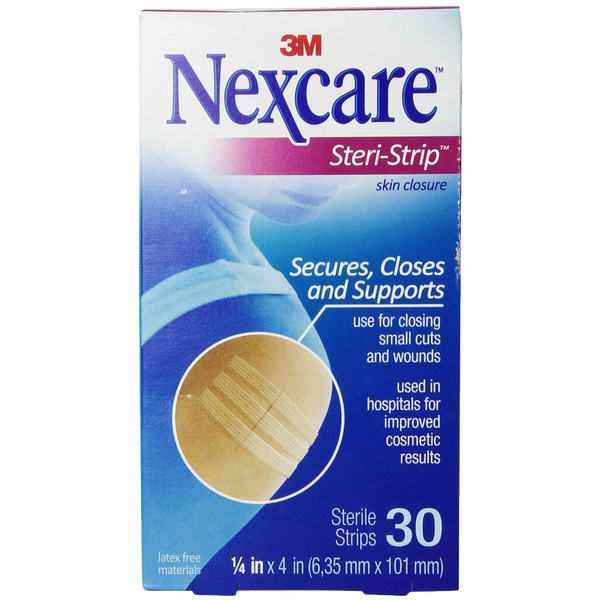 Nexcare Steri-Strip Skin Closure 1-4 X 4 Inches 30 Count
