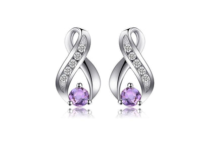 plated stone stud irregular statement pin earrings natural women amethyst brincos for earring gold bohemian clear vintage