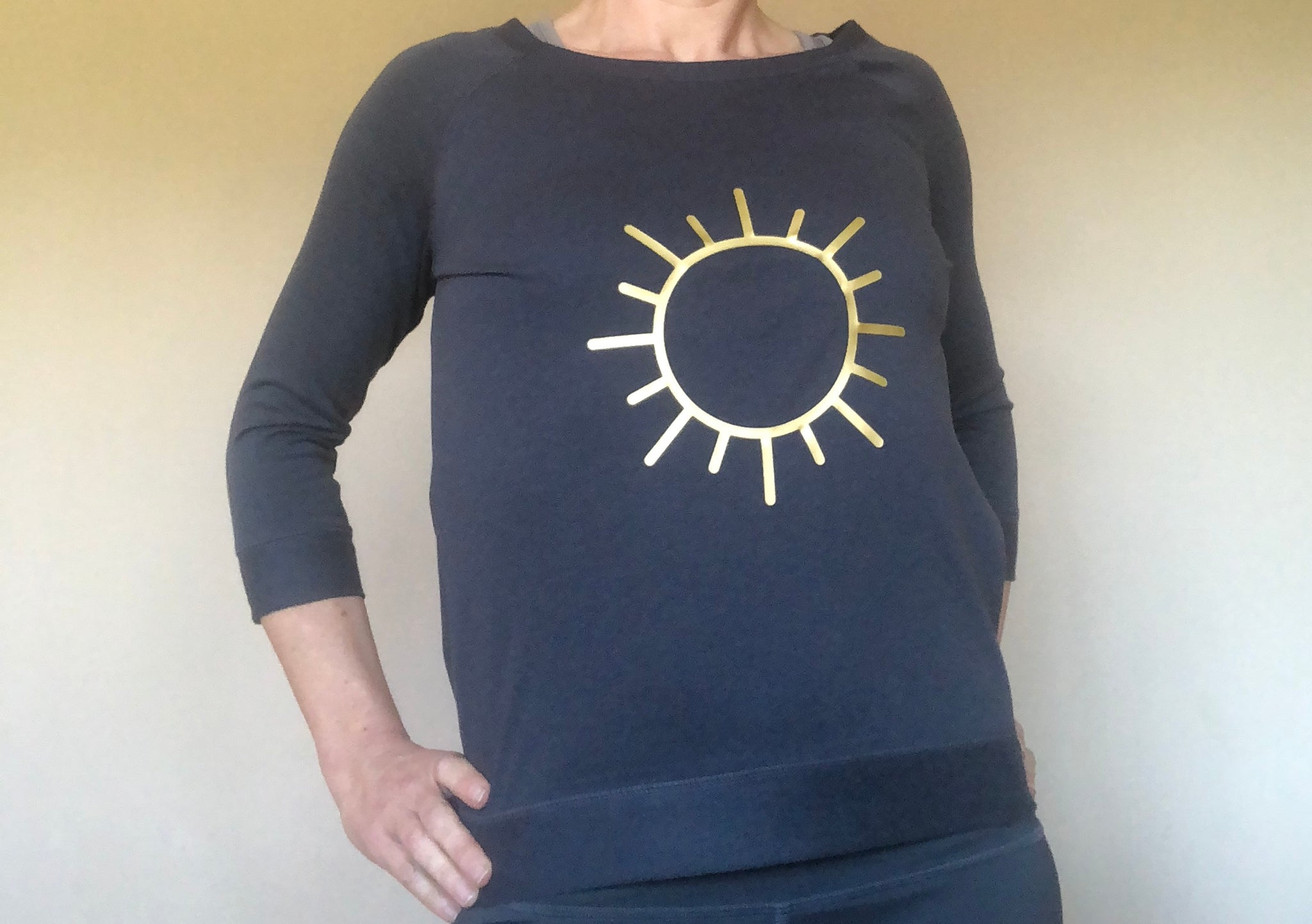 Sun sweat shirt (tencel)