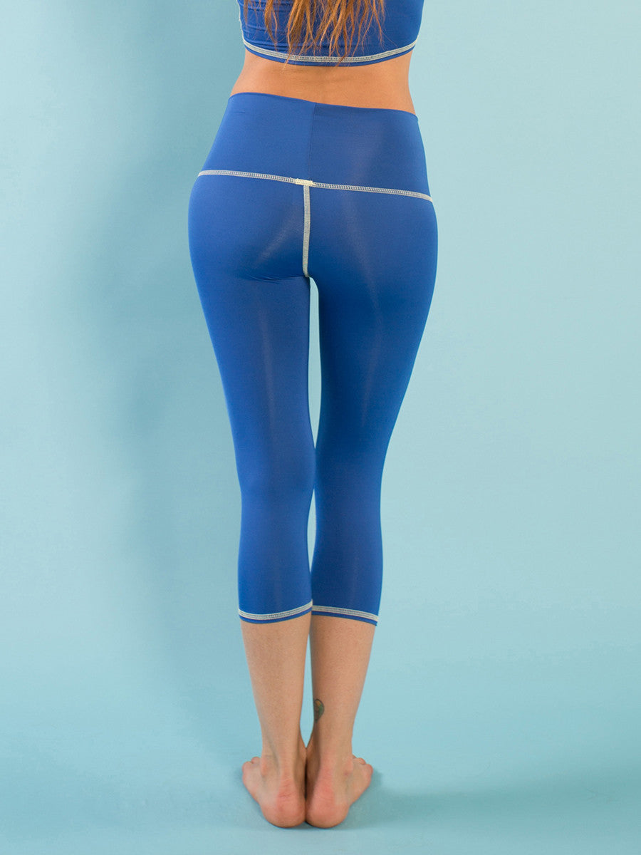CAPRI LEGGINGS DE YOGA ECOLÓGICOS OSHUN BLUE GODDESS