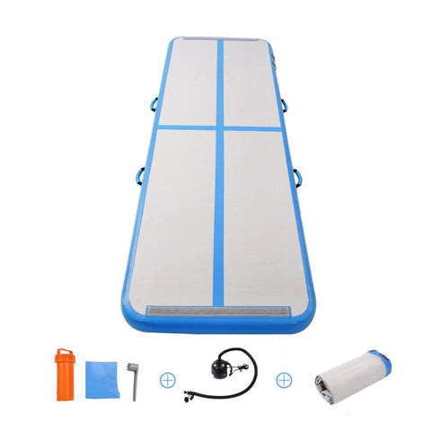 Air Track 3m Blue Inflatable Gymnastics/ Cheer Tumbling Mat