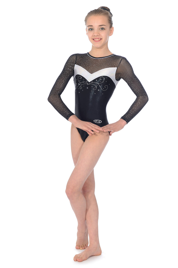5b76d51da Girls Gymnastics Leotard - Ultra - Long Sleeve Leotard - The Zone ...