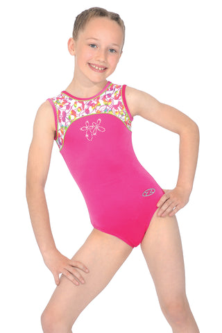 Tutti Frutti - Sleeveless Girls Gymnastics Leotard - Pink - The Zone