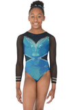 Ellee Long Sleeve  Girls Gymnastics Leotard - The Zone - Mermaid