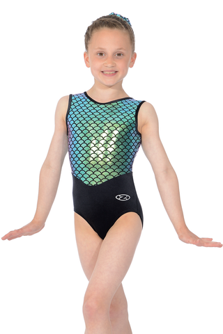 Mermaid Azalea - Sleeveless Girls Gymnastics Leotard - The Zone