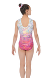 Delight - girls gymnastics leotard, pink, the zone - back