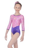Cupid Long Sleeve  - The Zone Girls Gymnastics Leotard - Pink