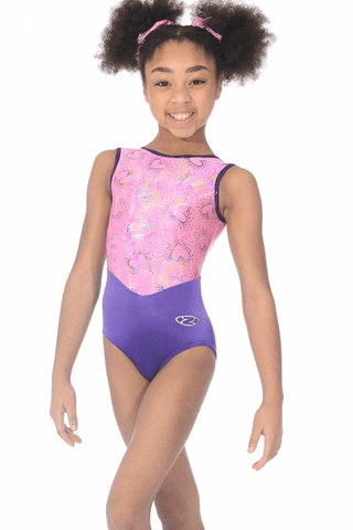 Cupid   - The Zone Girls Gymnastics Leotard - Pink-  Sleeveless