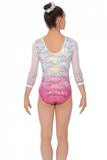 Delight Long Sleeve Girls Gymnastics Leotard - Pink - The Zone