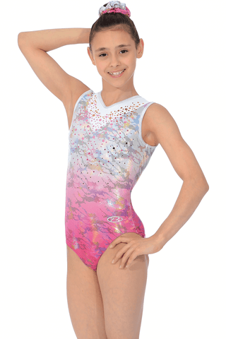 Delight - girls gymnastics leotard, pink, the zone