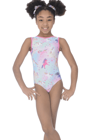 Unicorn Dreams - Sleeveless Girls Gymnastics Leotard - The Zone