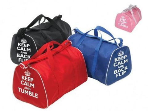 Gymnastics Bag - Keep Calm and Tumble  Back Flip - Pink 62497c0adecd8