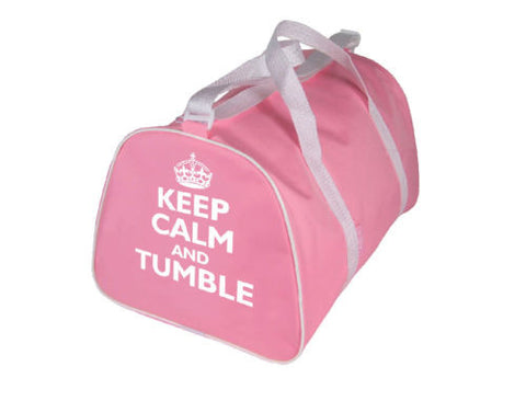 Gymnastics Bag - Keep Calm and Tumble/ Back Flip  - Pink, Blue, Black, Red