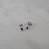 Mini rock studs | Black | Silver