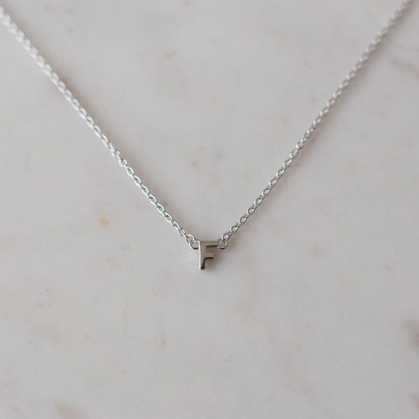little Letter Necklace | Sterling Silver