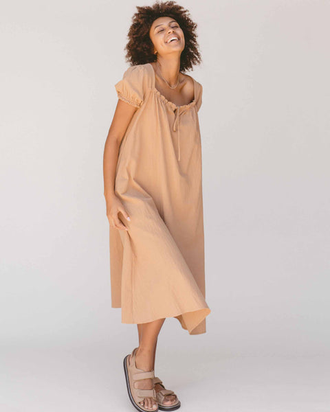 Sawyer Babydoll Dress | Caramel