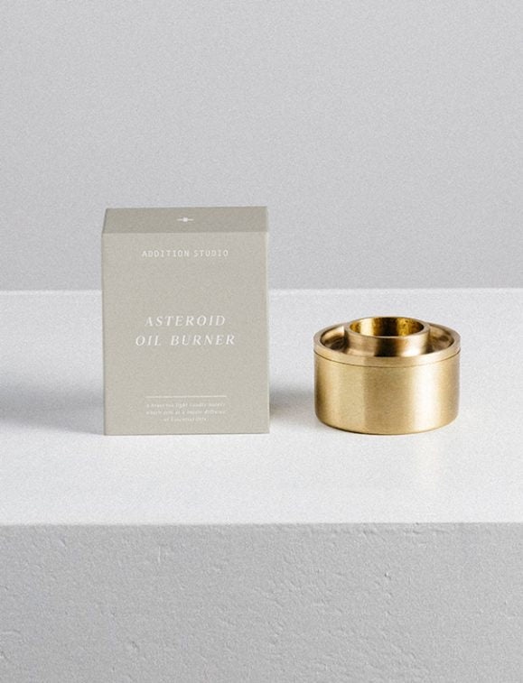 Asteroid ~ Solid Brass Oil Burner