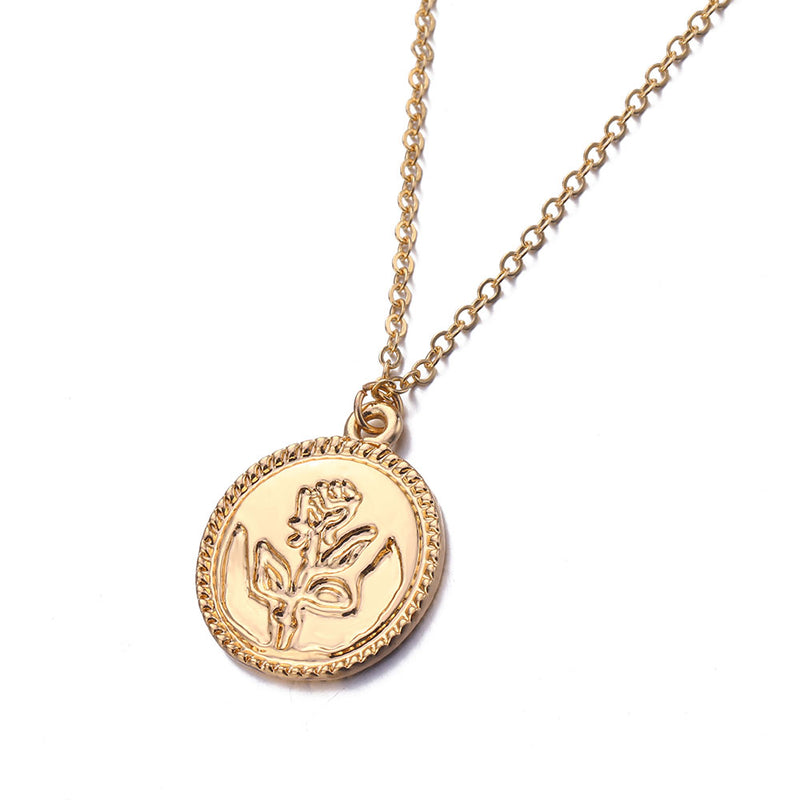 Rose Coin Necklace - Vesper
