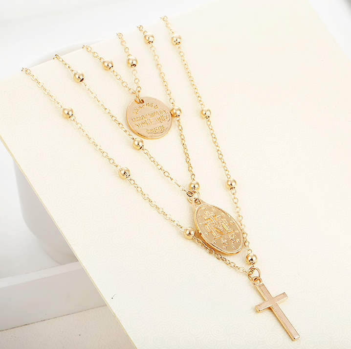 Cross Multilayer Necklace - Vesper