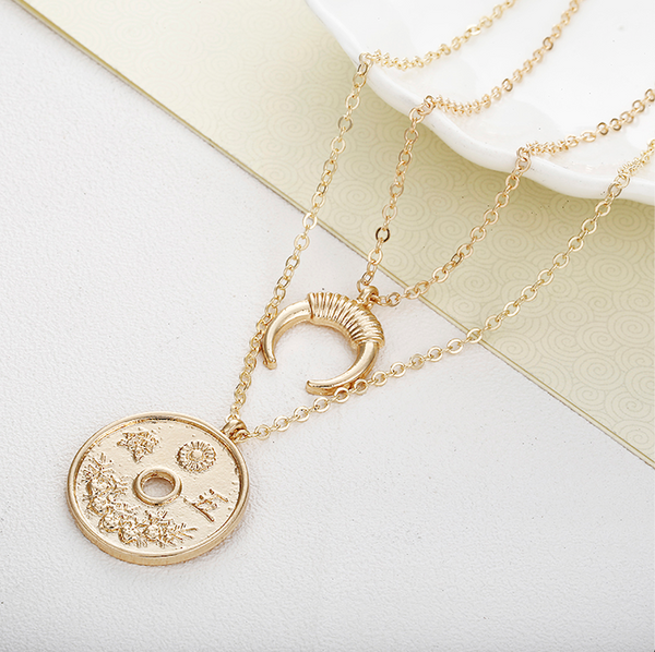 Coin Multilayer Necklace