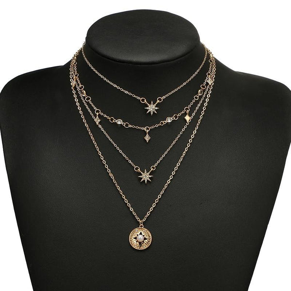 Constellation Multilayer Necklace - Vesper