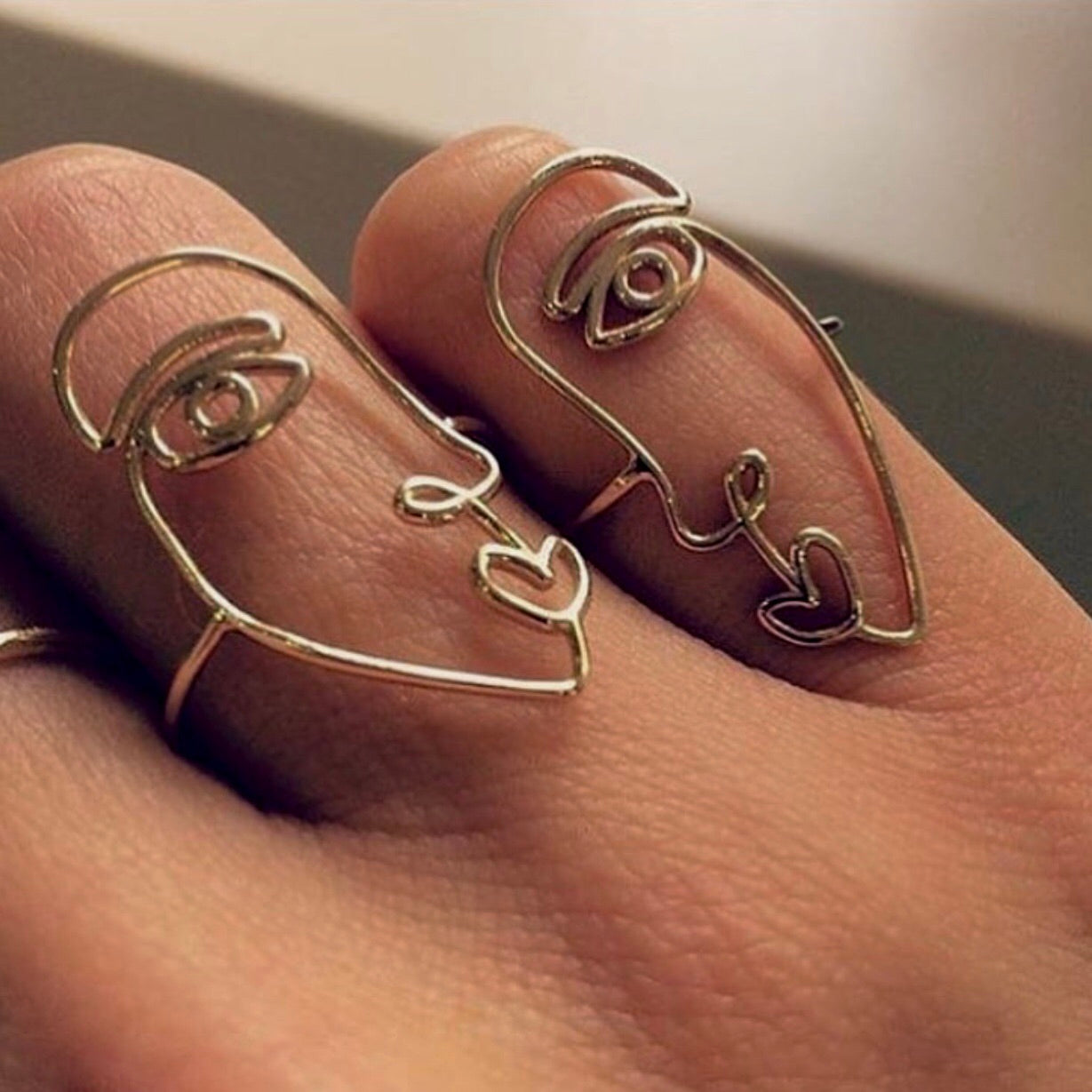 knuckle sheekgeekchic human jewelry piece set metal rings fingers hollow women new alloy for products fashion ethnic gift face