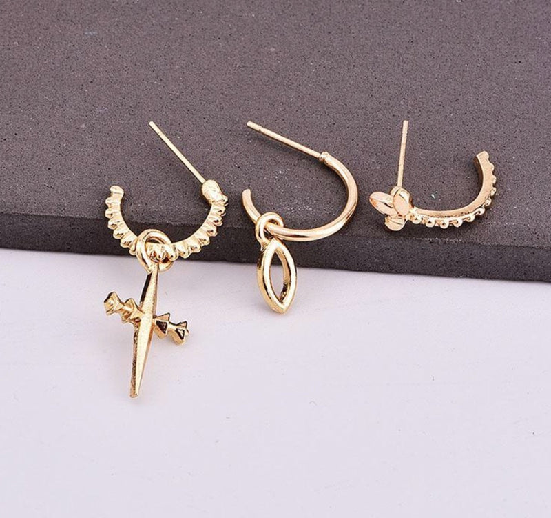 TRINITY EARRINGS (III Pairs) - Vesper