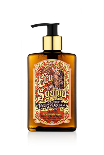 EcoSoapia - Organic Pure Castile Soap - Sicilian Orange - 295ml - Ecosoapia