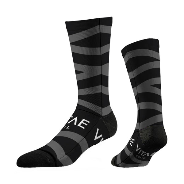 Thin Motorcycling Socks - Grey Zag | Bas mince pour moto - Grey Zag