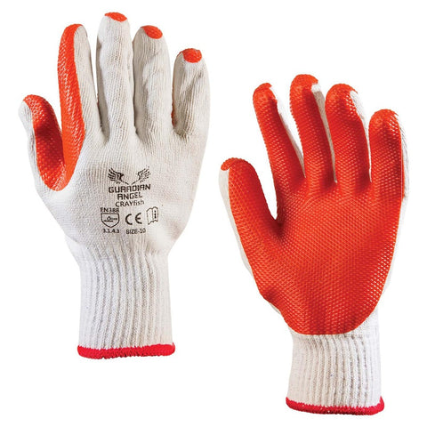Crayfish Cotton PVC Dipped Gloves